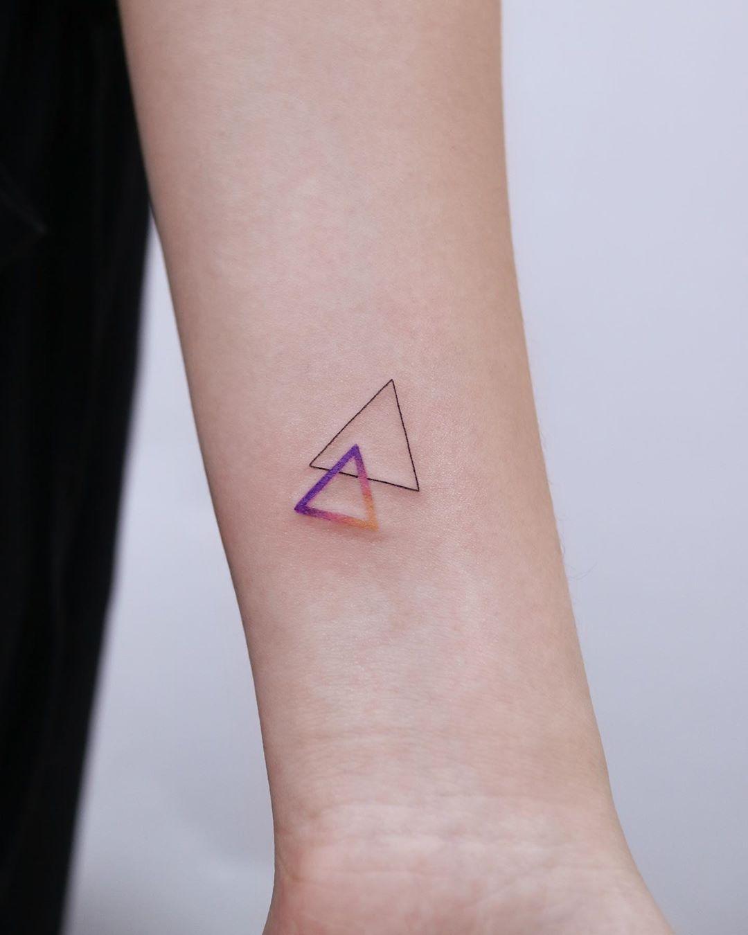 Two triangles by tattooist Nemo