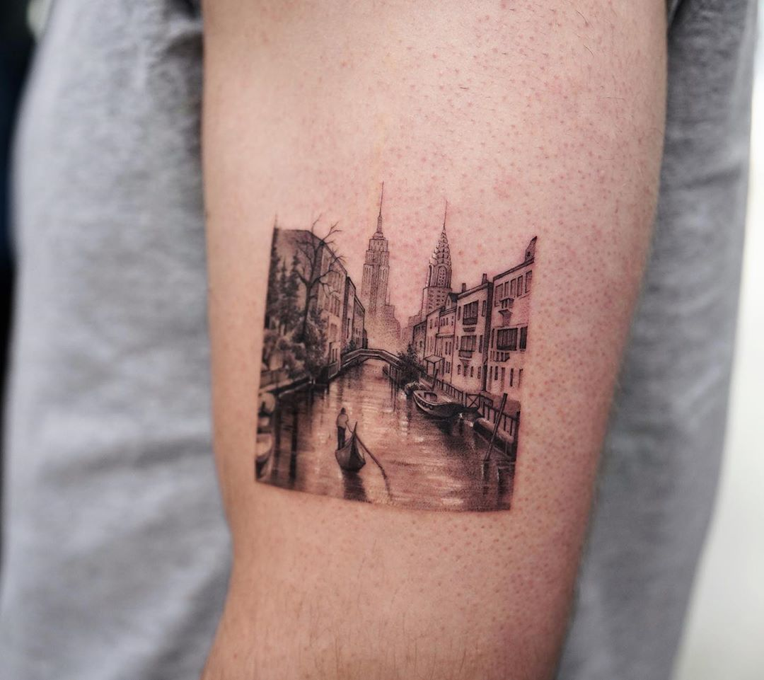 Venice tattoo by Dragon Ink