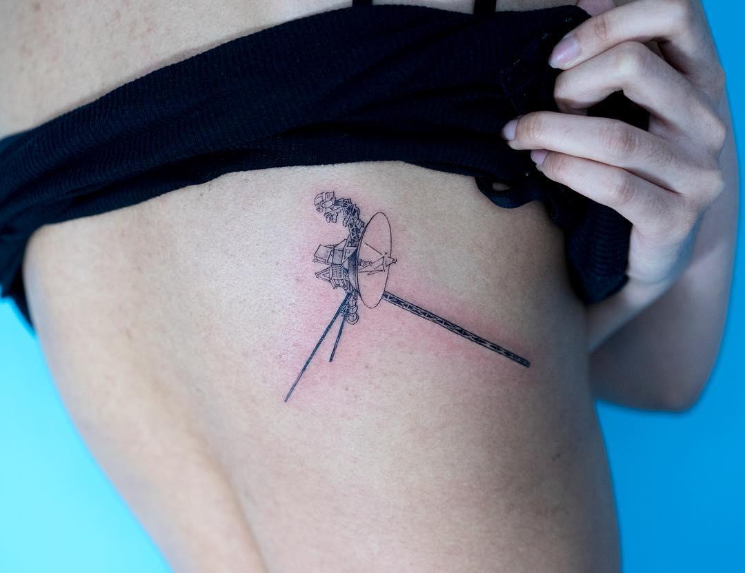 Voyager 1 tattoo by tattooist Oozy