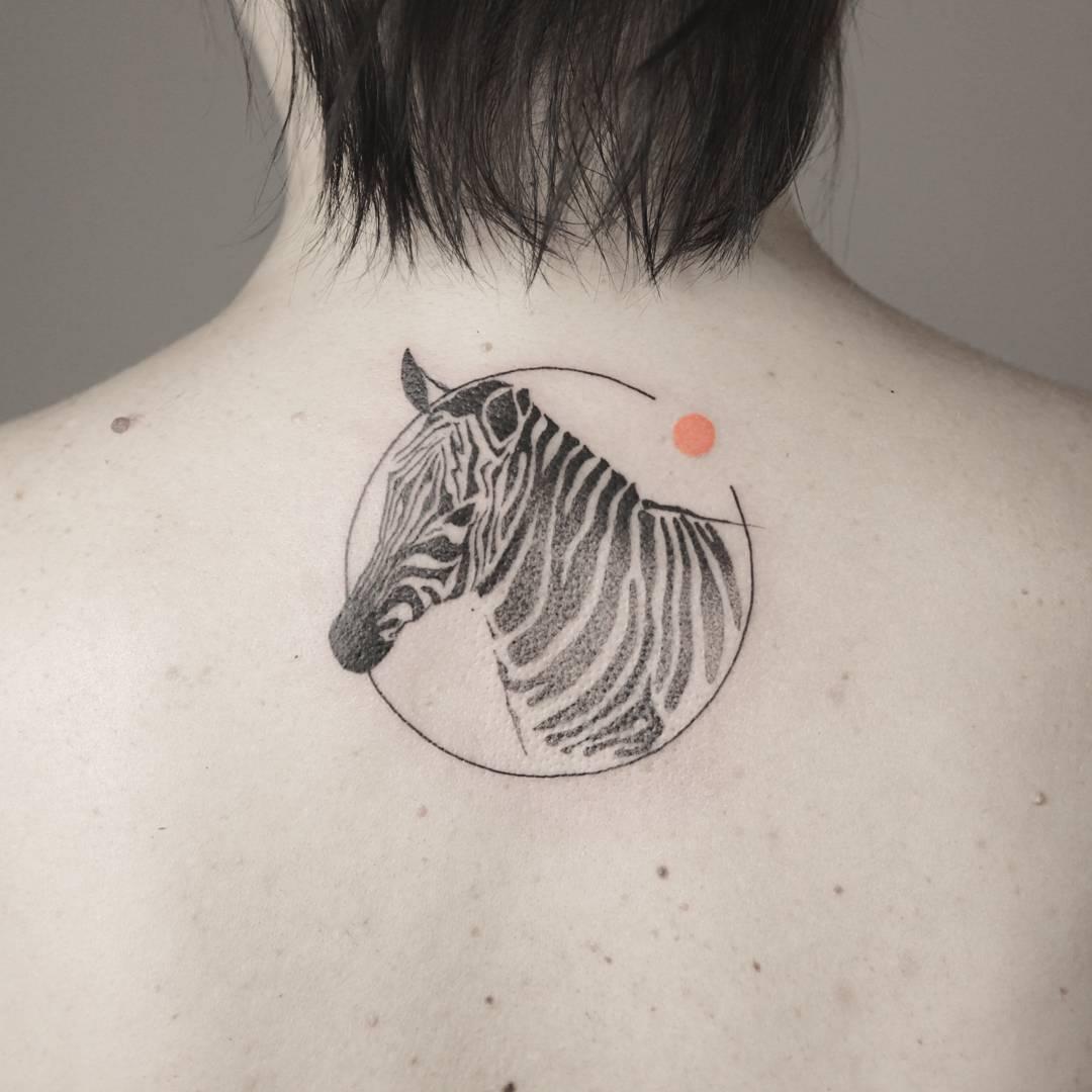 Zebra tattoo by Aga Kura