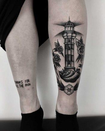 A traditional lighthouse by Krzysztof Szeszko
