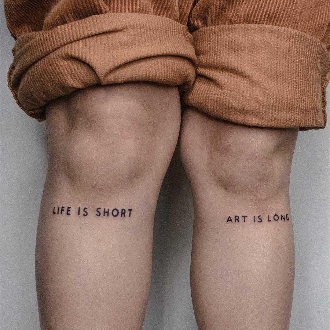 Art is long by tattooist Bongkee