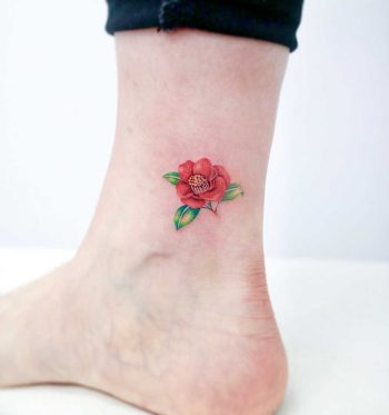 Camellia flower by tattooist Nemo