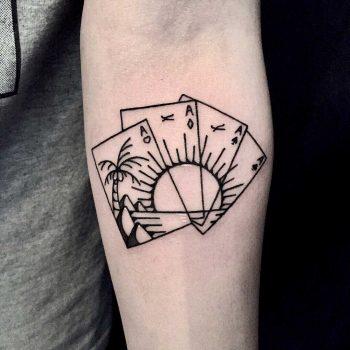 Card sunset by tattooist yeontaan