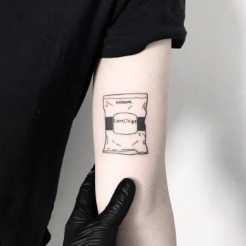 Chips tattoo by tattooist pokeeeeeeeoh