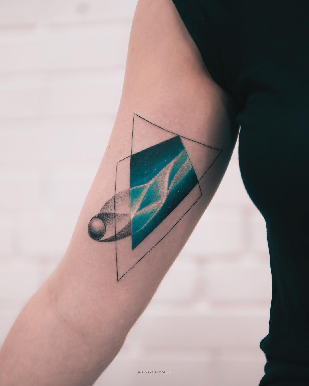 Comet tattoo by Evgeny Mel