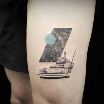 Custom tat by Aga Kura