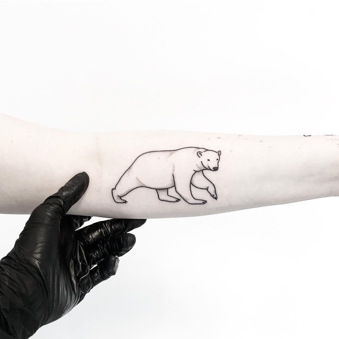 Cute polar bear by tattooist pokeeeeeeeoh