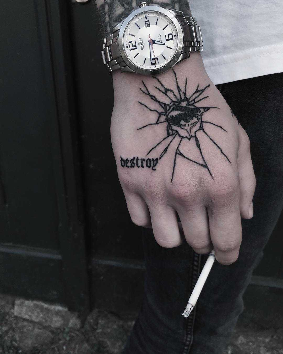 Destroy tattoo by Krzysztof Szeszko