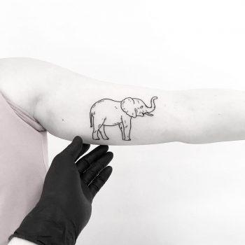 Elephant by tattooist pokeeeeeeeoh