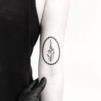 Framed Foxgloves by tattooist pokeeeeeeeoh