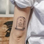 Gravestone tattoo by tattooist Bongkee