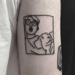 Guy with his dog by tattooist yeontaan