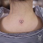 Heartpeace tattoo by Nudy tattooer