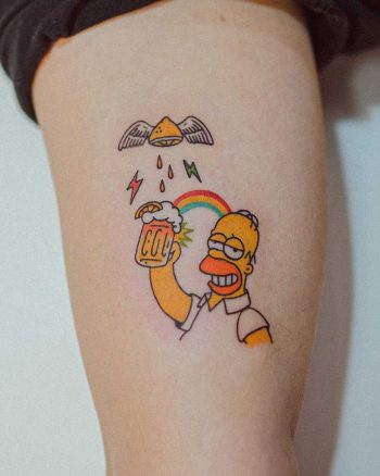 Home with a beer by tattooist Bongkee