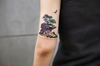 Island by tattooist Chenjie