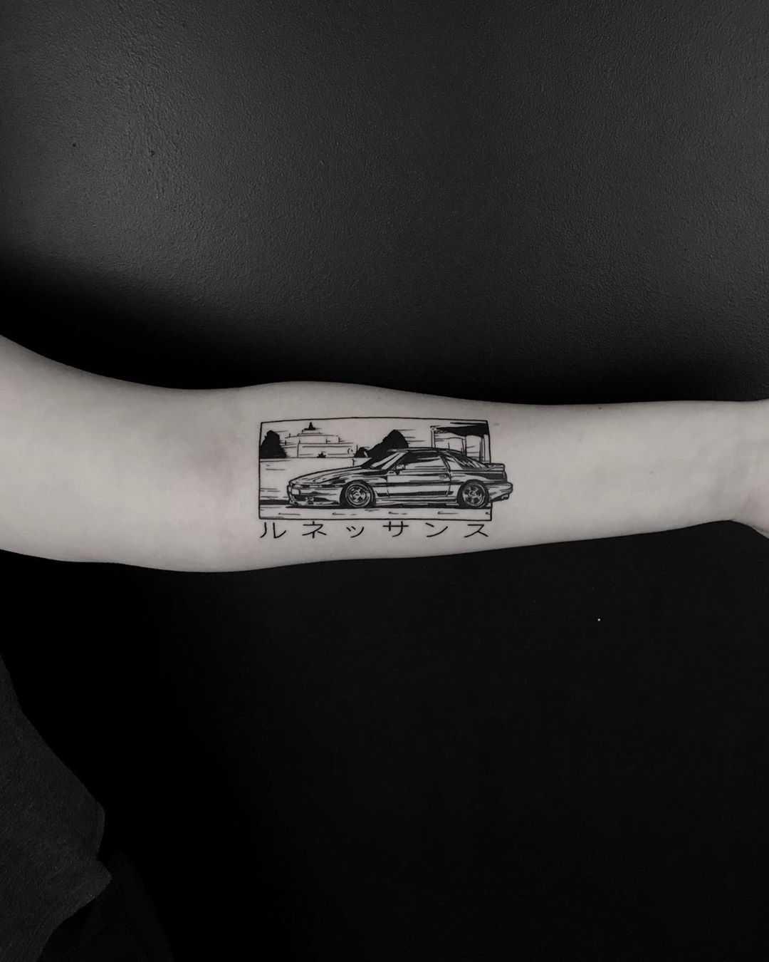 JZA70 Supra tattoo by Krzysztof Szeszko - Tattoogrid.net