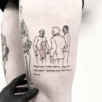 Jan Stenmark tattoo by tattooist pokeeeeeeeoh