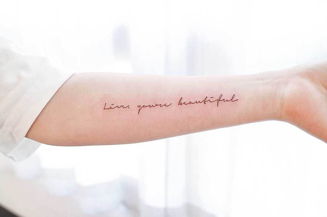 Live, you're beautiful by tattooist Nemo
