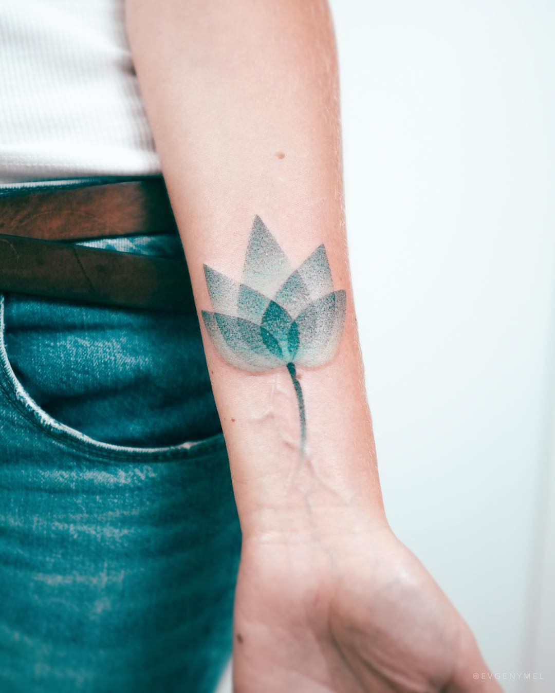 Lotus on a wrist by Evgeny Mel