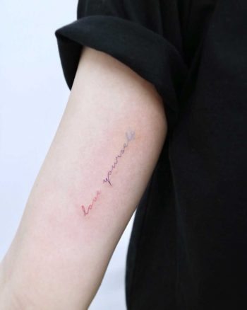 Love yourself by tattooist Nemo