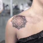 Mandala on the right shoulder by Remy B