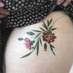 Marigold and Carnation flowers by Rey Jasper