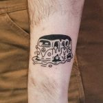 Melting bus tattoo by tattooist Bongkee