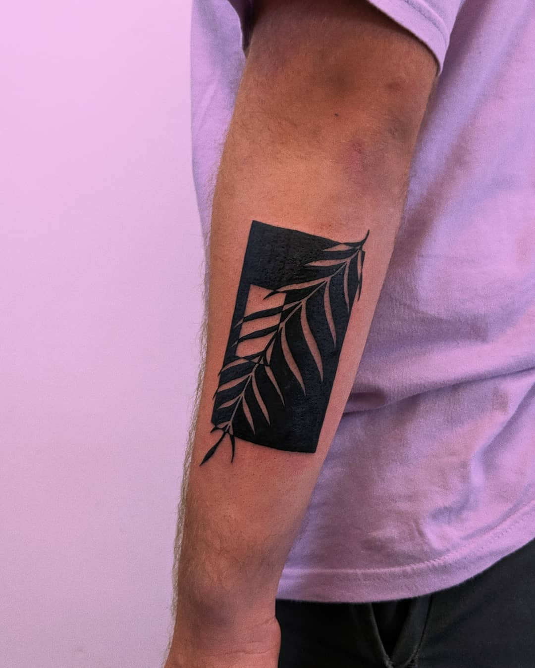 Negative space piece by Tristan Ritter