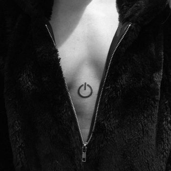 Power button tattoo by Philipp Eid