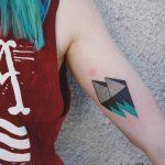 Pyramids and mountains by Aga Kura