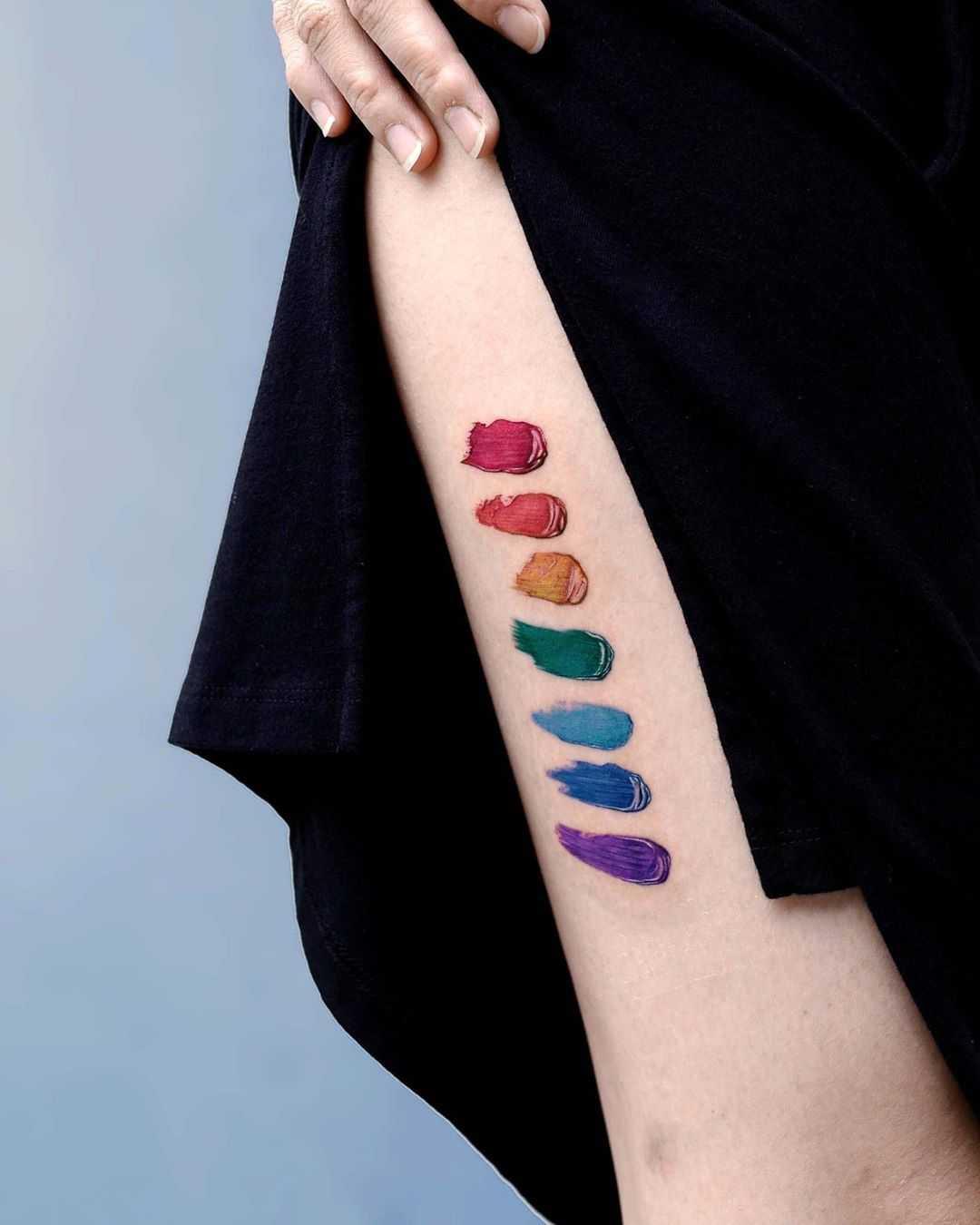 Rainbow brush strokes by Studio Bysol