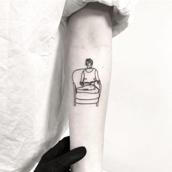 Reading lady by tattooist pokeeeeeeeoh
