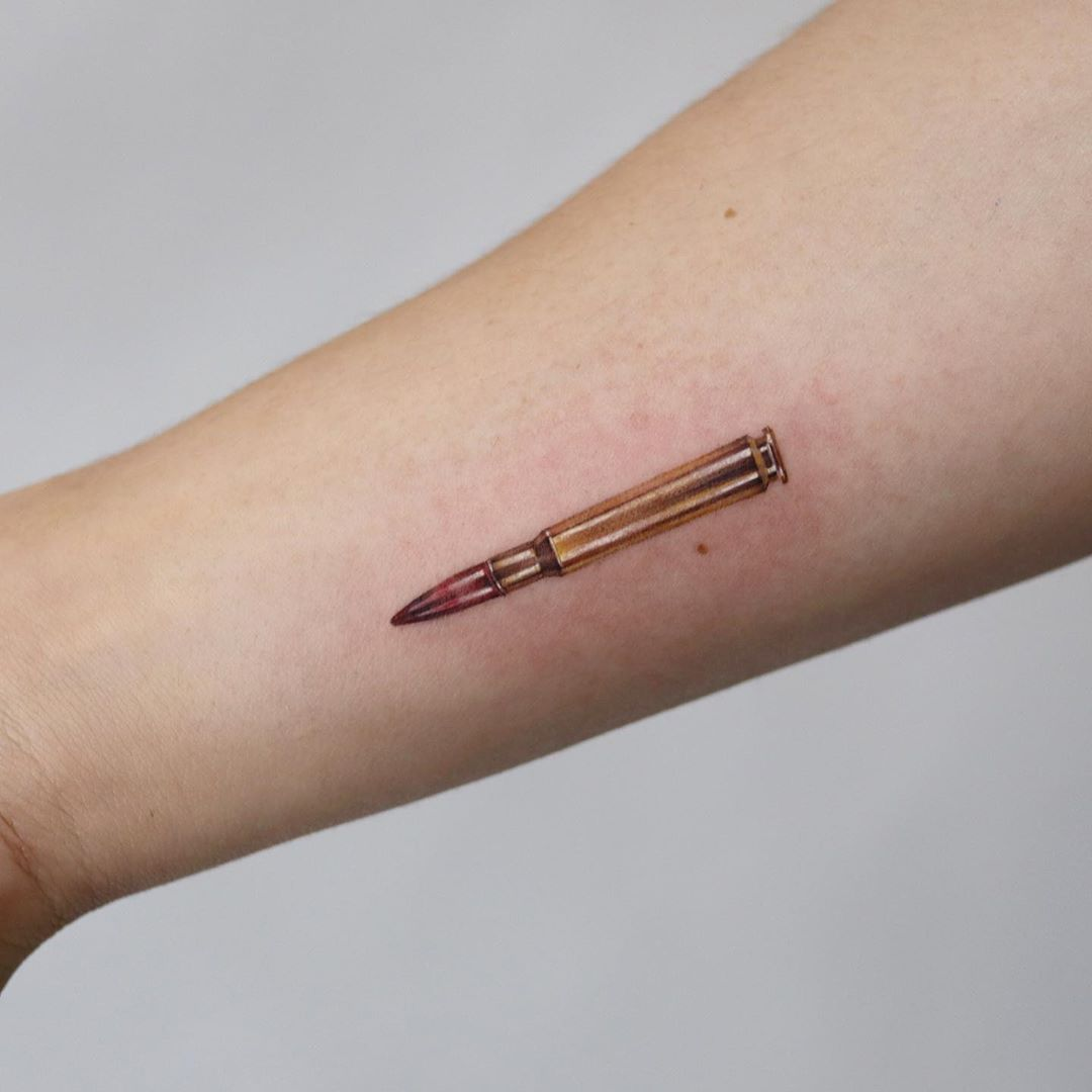 Realistic bullet by Mumi Ink