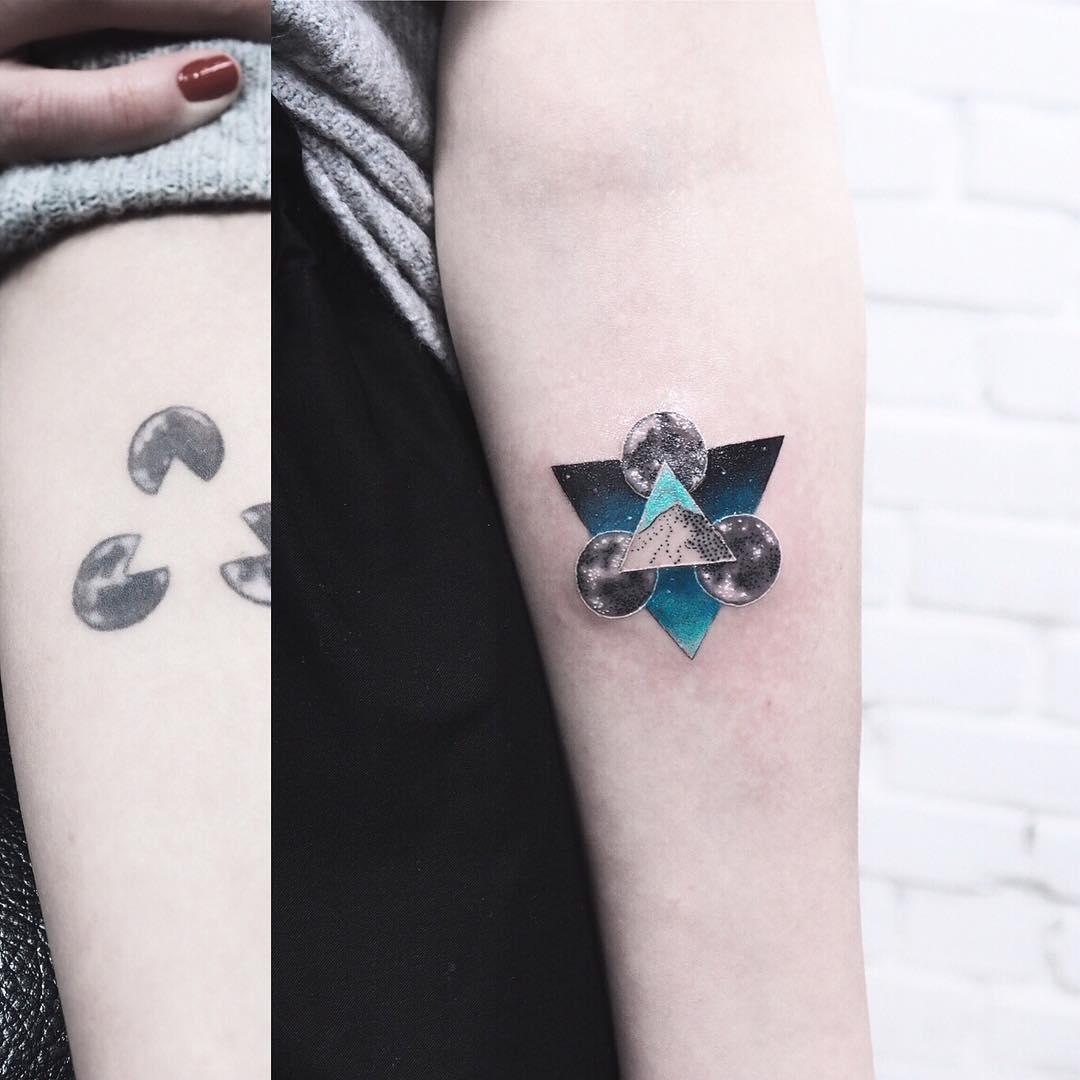 Renewed tattoo by Evgeny Mel