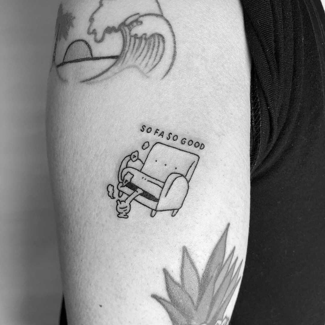 Sofa so good by tattooist Bongkee