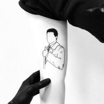 Special agent Dale Cooper tattoo by tattooist pokeeeeeeeoh