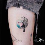 Tukan bird tattoo by Aga Kura