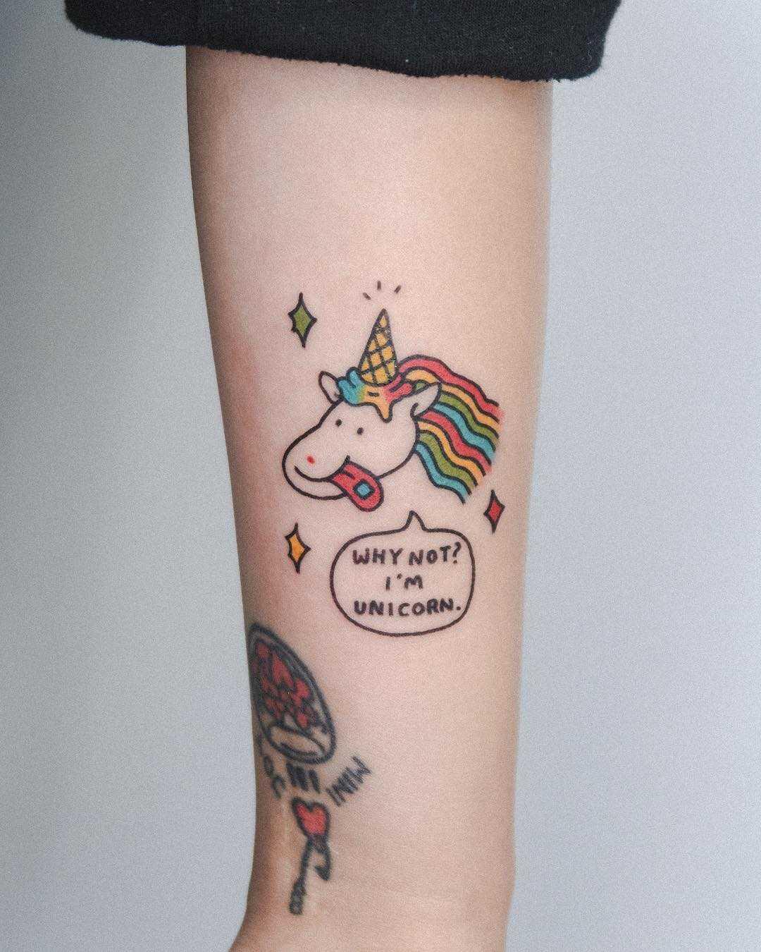 Unicorn by tattooist Bongkee