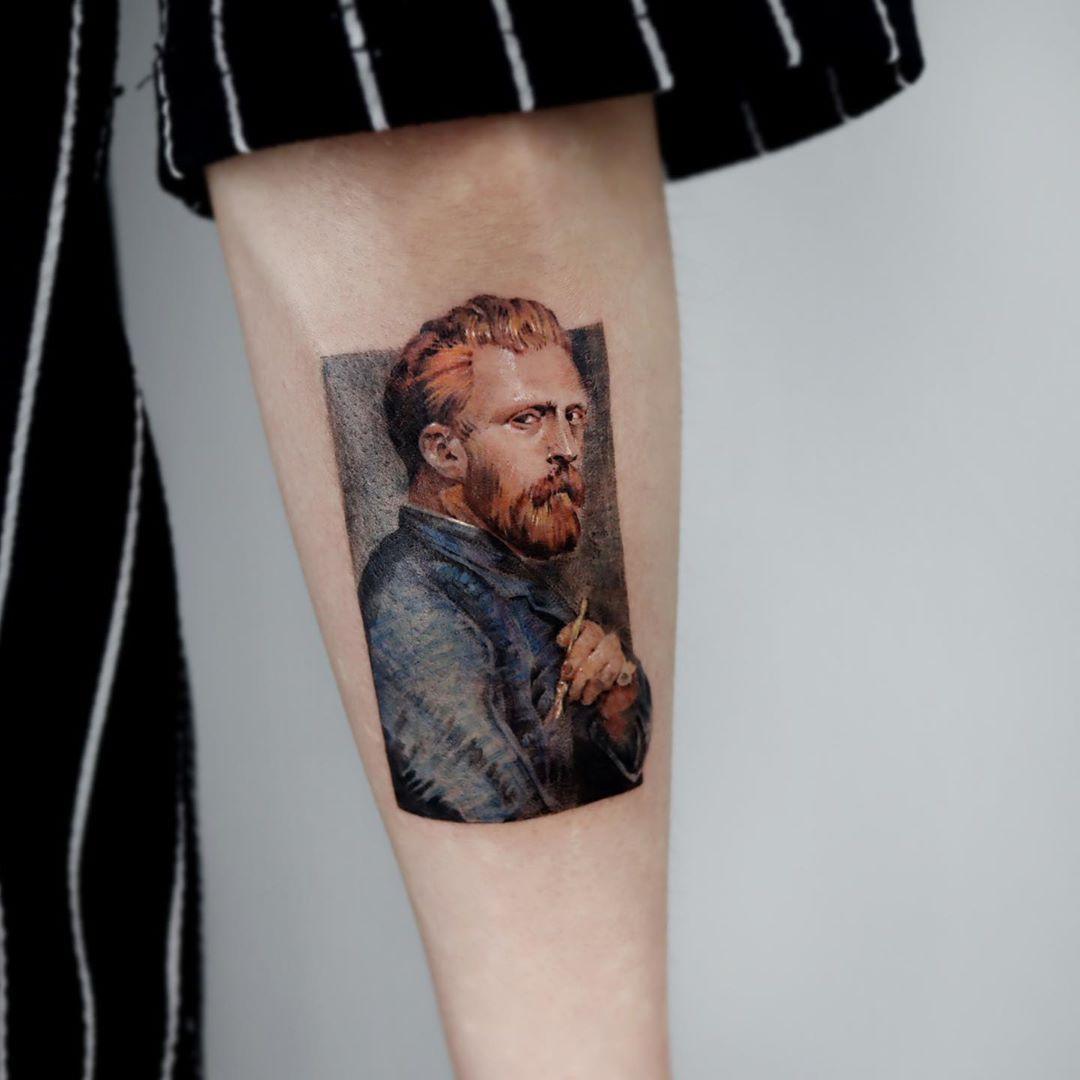 Van Gogh tattoo by Mumi Ink