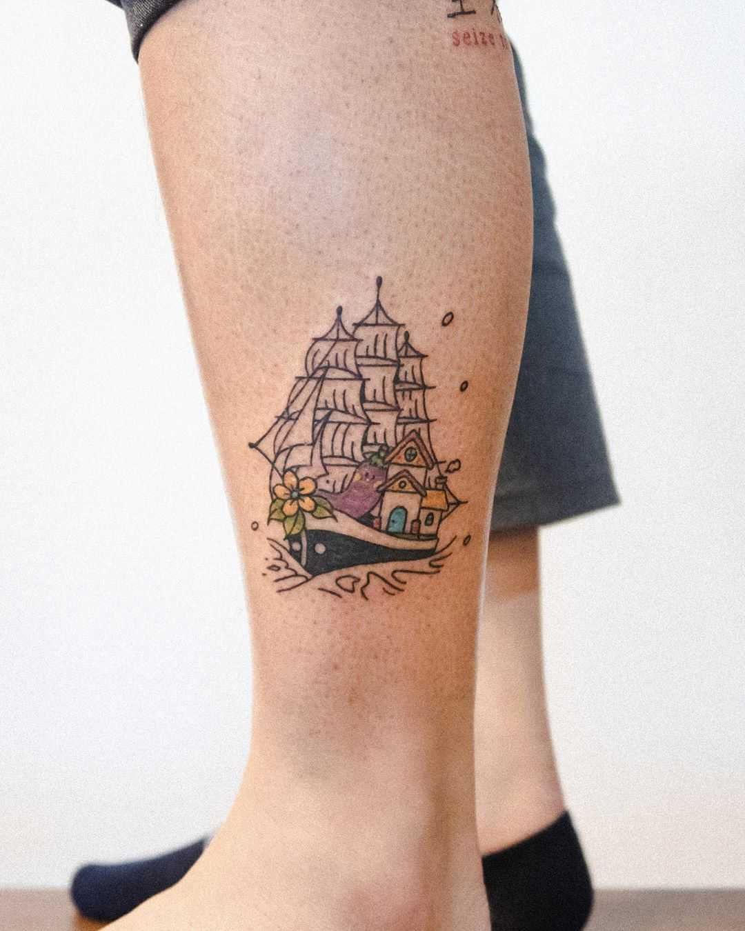 Vegetable ship by tattooist Bongkee