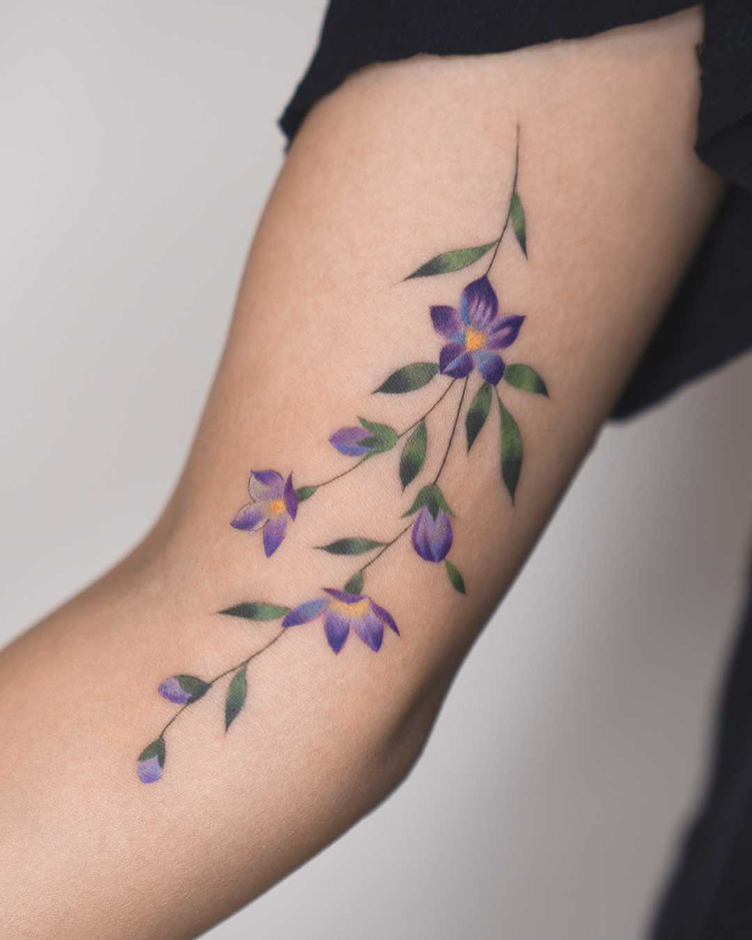 Violet Flowers By Rey Jasper Tattoogrid Net