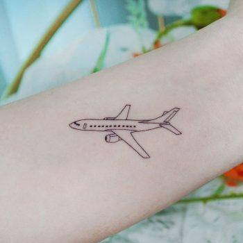 1.5inch airplane by tattooist Cozy