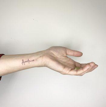 Avoidance tattoo by Sara Kori