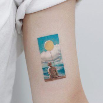 BTS serendipity tattoo by tattooist Saegeem