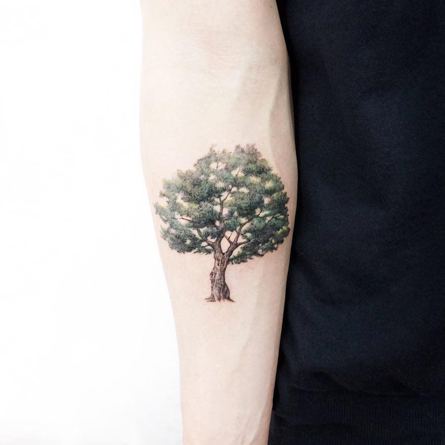 Big tree by tattooist Ida