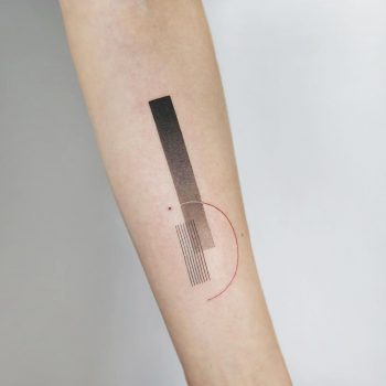 Black and grey abstractions by tattooist Ida