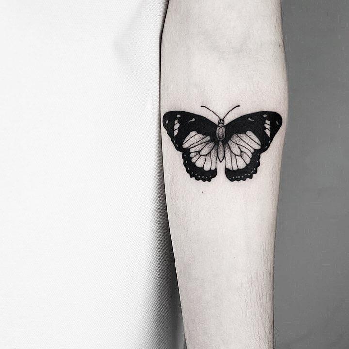 Black butterfly by Malvina Maria Wisniewska