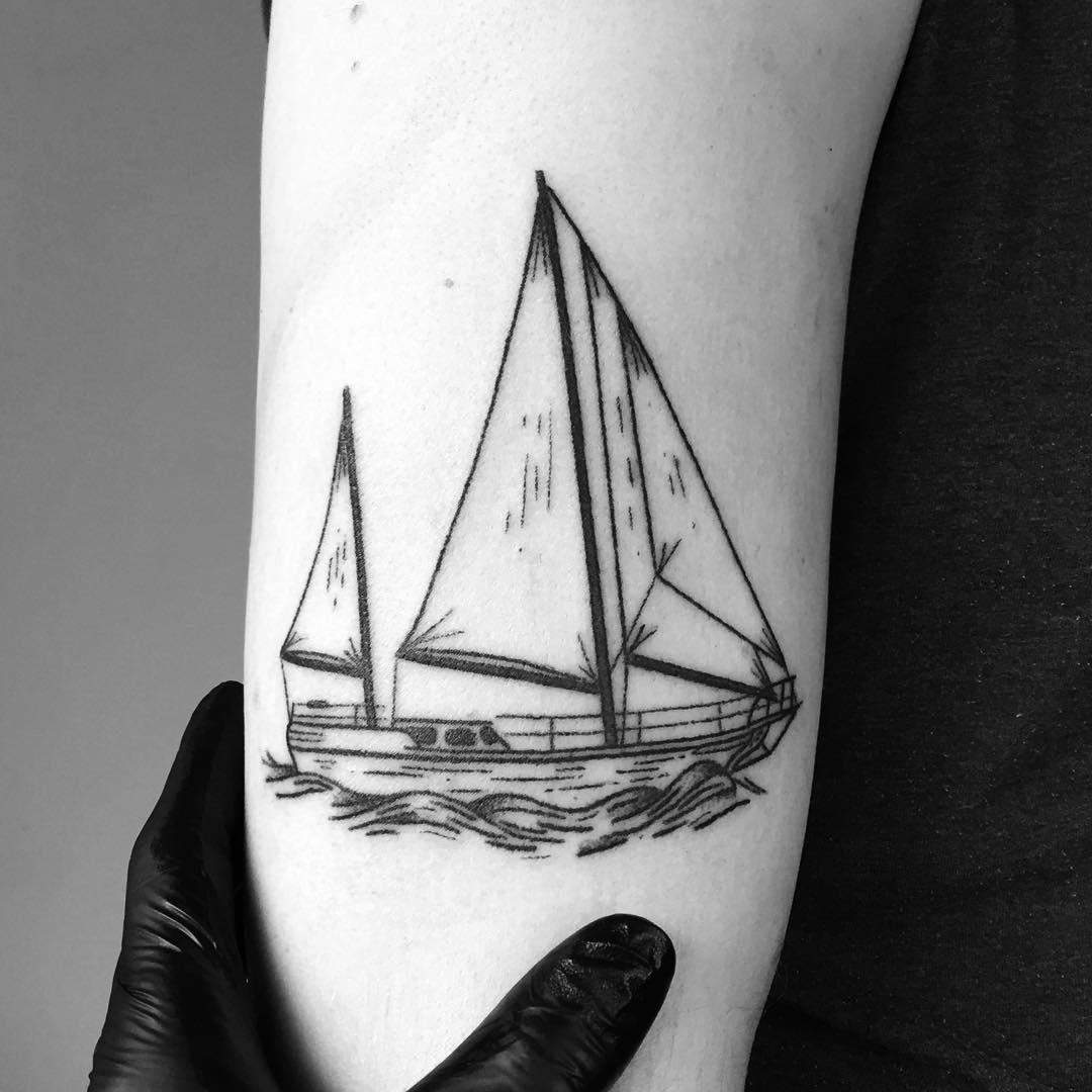 Boat by tattooist pokeeeeeeeoh