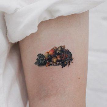 Caravaggio's Bacchus tattoo by tattooist Saegeem